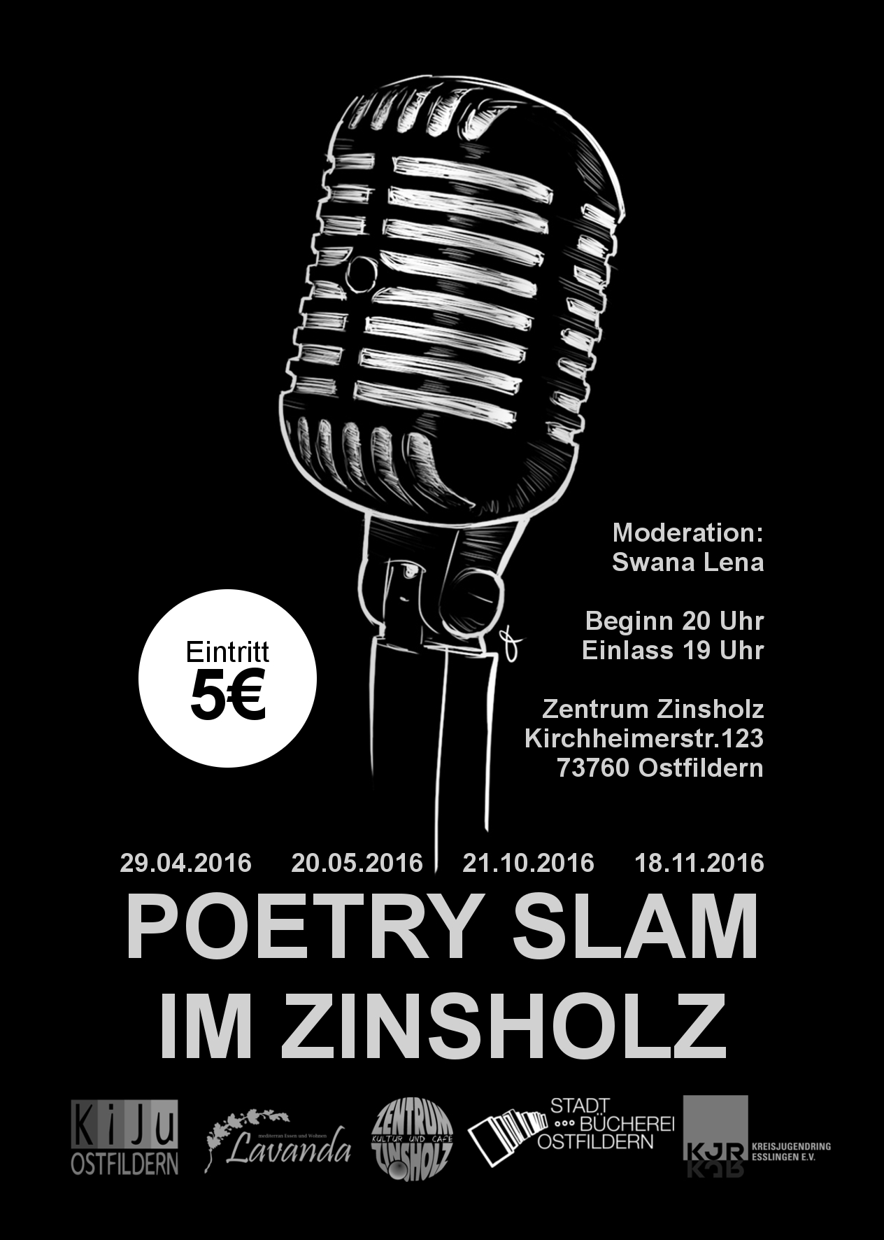 Flyer Poetry Slam neue Logos